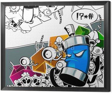 Dziwny obraz graffiti puszki