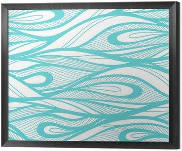 Abstrakcyjne ręcznie rysowane ilustracja, tło fale.