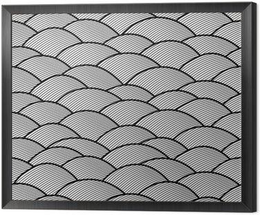 Jednolite abstrakcyjne ręcznie rysowane wzór, fale tle