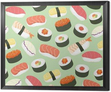 Słodkie Sushi tło bez szwu deseń