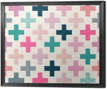 Bez szwu kolorowy krzyż teksturowane wzór