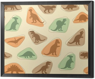 vector set silhouettes of dinosaur,animal illustration, retro pattern background