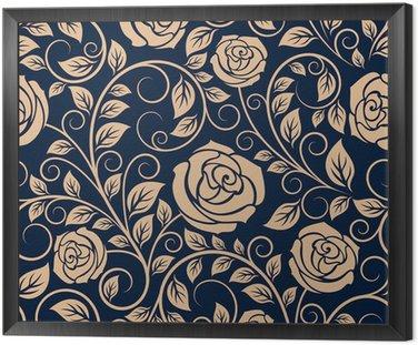 Vintage róże kwiaty szwu