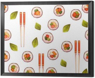 Jednolite wzór z sushi. tło wektor