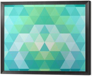 Mozaiką w tle trójkąta. geometryczne tle