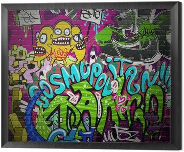 Ściany graffiti sztuka tła miejskiego. hip hop grunge projekt