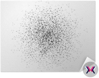 Abstrakcyjna tła z kropkami siatki i komórki trójkątne. ilustracji wektorowych