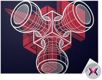 Technika 3D wektorowe, abstrakcyjny kształt z wykorzystaniem kostek i geome
