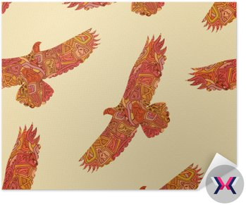 Seamless dekoracyjny wzór z plemienia orłów. Vector illustrat