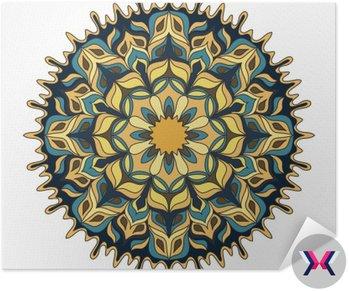 Mandala. kolorowe Zabytkowe elementy dekoracyjne.