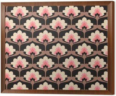 Jednolite rocznika wzór kwiatów