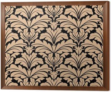 Bez szwu deseń z beżowymi motywami kwiatowymi arabeska