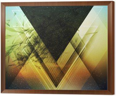 Streszczenie wektora tle trójkąta przyszłość