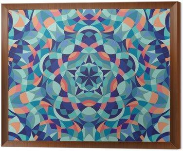 Kalejdoskop geometrycznej kolorowy wzór. Streszczenie tle. ilustracji wektorowych