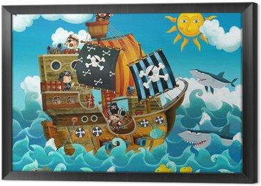 Piraci na morzu - ilustracji dla dzieci