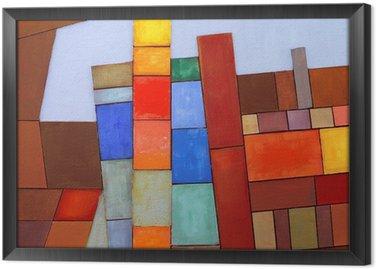 Kolaż abstrakcyjne malowane