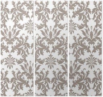 Wektor Vintage barokowy kwiatowy wzór adamaszku. Luksusowe Klasyczne ornament Royal Victorian tekstury tapety, tkaniny, włókna. brązowy kolor