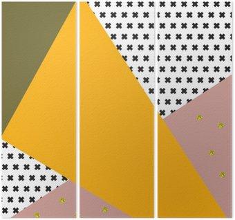 Geometryczna tło w stylu retro.