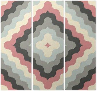 Streszczenie retro geometryczny wzór