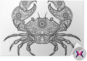 Crab ikona zentangle. Wektor ręcznie rysowane kraba