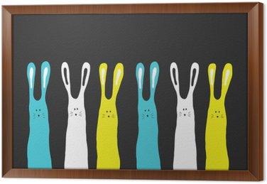 Wielkie kolory króliki tle, ilustracji wektorowych