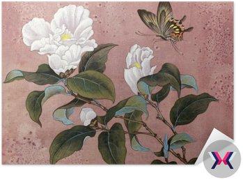 Azalia kwiat i motyl