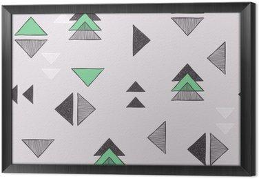 Bez szwu ręcznie rysowane trójkąty wzór.
