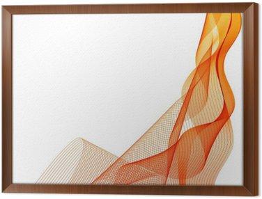 Streszczenie wektora pomarańczowe tło fale pionowe linie