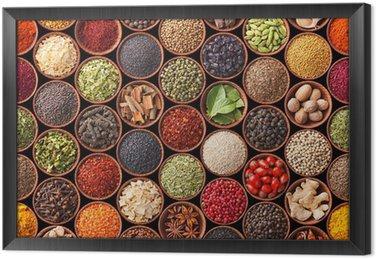 Bezszwowych tekstur z przyprawami i ziołami