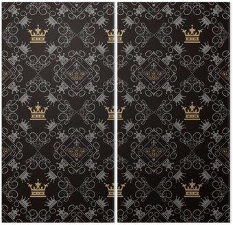 Królewskiej tła, Seamless Pattern