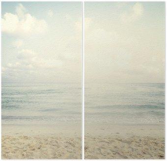 Vintage tropikalnej plaży w lecie