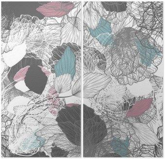 Powtarzalny streszczenie kwiatowy wzór