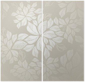 Tapety powtarzalne liści srebrny