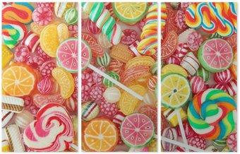 Mieszane kolorowe owoce Bonbon bliska