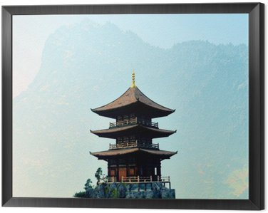 Zen buddhist temple in the mountains