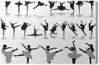 Sylwetki i cienie baletnice 2, wektor