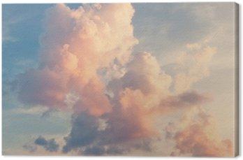 Sunny tle nieba w klasycznym stylu retro