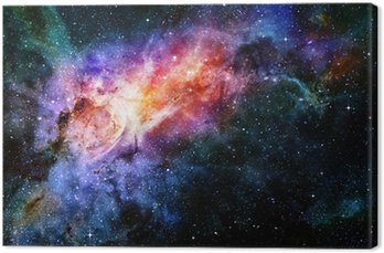 starry deep outer space nebula and galaxy