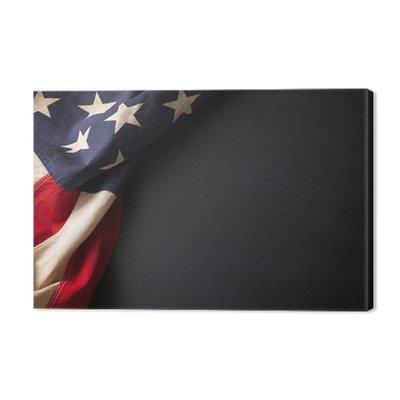 Vintage American flag na tablicy