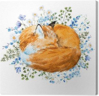 Akwarela spania fox