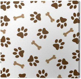 Wzór Brown Dog Paw