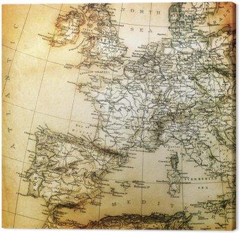 Vintage Francuska Mapa