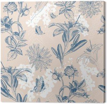 retro flower vector illustration