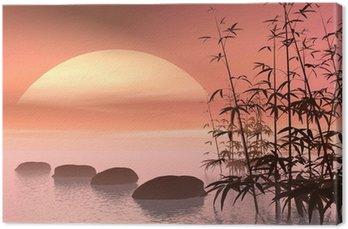 Azjatycka kroki do słońca - renderowania 3D