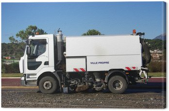 Ciężarówka sprzątanie ulic