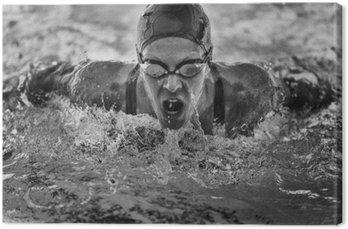 Butterfly stroke swimming champion