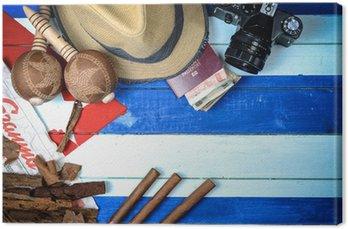 Cygara Kuba i instrumentów muzycznych