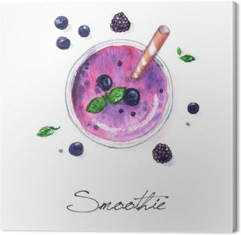 Watercolor Food Painting - Smoothie