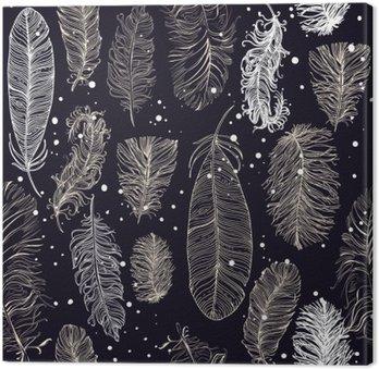 seamless pattern with beautiful feathers
