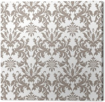 Vector Baroque Vintage floral Damask pattern. Luxury Classic ornament, Royal Victorian texture for wallpapers, textile, fabric. Brown color